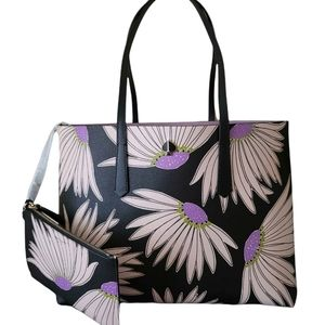 New Kate Spade Molly Tote Falling Flowers Daisies